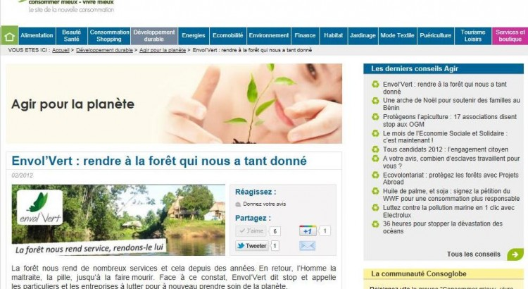 Article Consoglobe 2 fevrier 2012