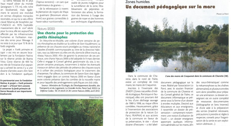 papier courrier de la nature mai juin 2012