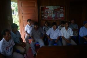 19 de Enero 2013, reunión de información para los beneficiarios del proyecto sobre la metodología de plantación.