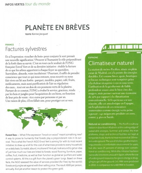 Facture forêt air france magazine