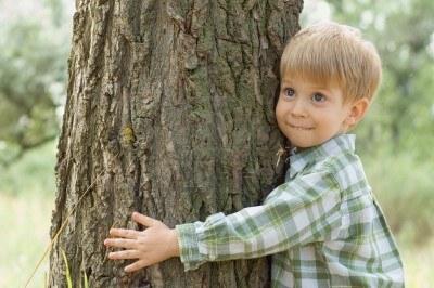 3379700-soins-de-la-nature--petit-garcon-embrasser-un-arbre