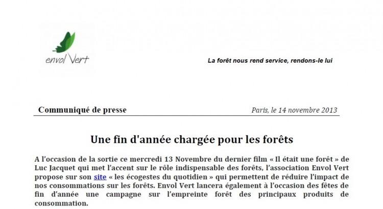 CP-14 novembre-Une fin d'année chargée pour la forêt V1