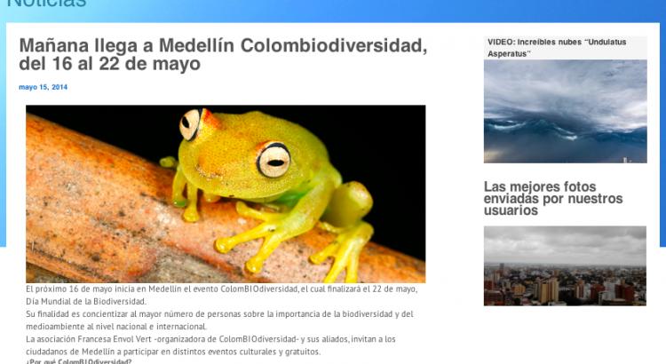 [Canalclima.com- mayo 15, 2014] ColomBIOdiversidad