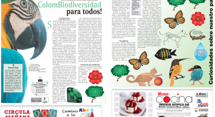 [El Mundo - mayo 4, 2014] ColomBIOdiversidad