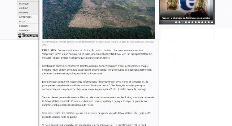 article empreinte forêt