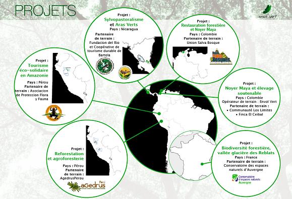 Carte des projets 2015