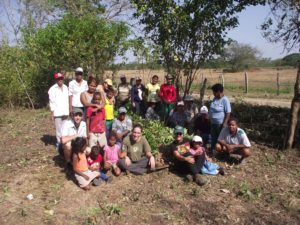 Local women get involved in a community project to set up a communal garden