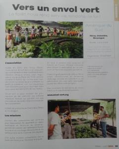 Article de QOA Magazine sur Envol vert