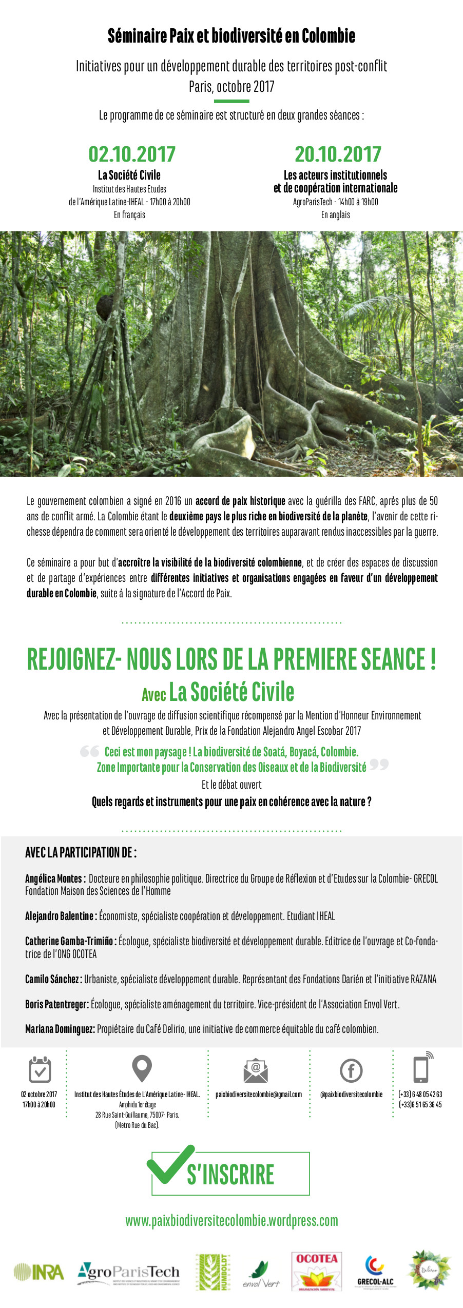 Invitation Paix et Biodiversité