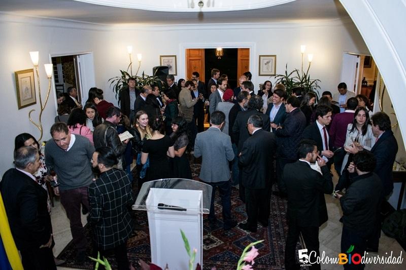 inauguration de l'événement à l'ambassade de France de Colombie le 9 mai