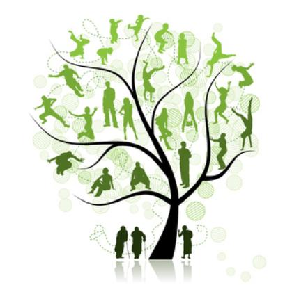 arbre et silhouettes
